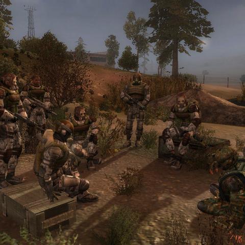 Foma i reszta grupy w obozie