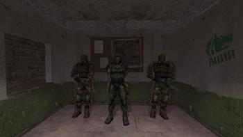 Ochroniarze razem ze swoim dowódcą