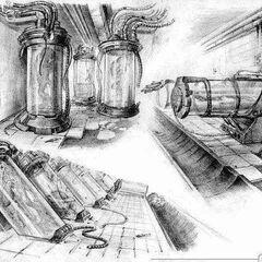 Szkic koncepcyjny Laboratorium X-18