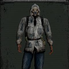 Skórzana kurtka biała z maską