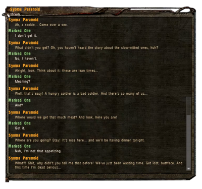 Cannibalistic Freedom Stalker Chat