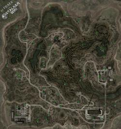 Карта Затона с тайниками