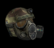 Tactical helmet with filterr
