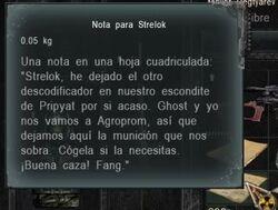 Nota para Strelok