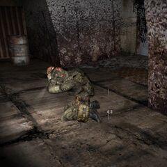 Stalker z oddziału Topola pod wpływem Kontrolera