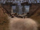 Блокпост под мостом