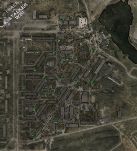 Карта Припяти с тайниками