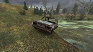 ВАЗ-2107 у озера в Тёмной долине