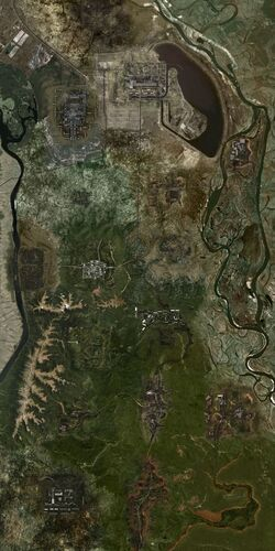 Мапа всієї Зони Lost Alpha