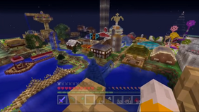 Stampy's Town at Night