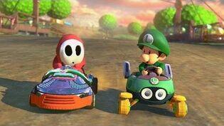 Mario Kart 8 - 1v1 Race w The Diamond Minecart