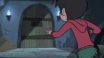 S3E6 Marco looking at the closed dungeon door