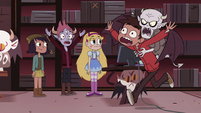 S4E13 Marco runs around with Relicor on his back