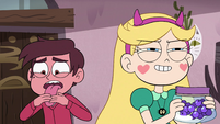 S4E7 Star grinning; Marco disgusted by tea