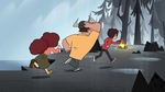 S1E6 Diazes run toward the campfire