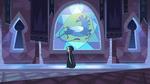 S3E2 Queen Moon walking through the castle
