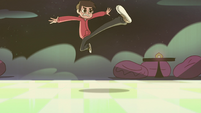 S2E33 Marco Diaz doing a jumping kick