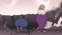S3E7 Bald eagle and spider looking at Ludo