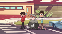 S1E4 Marco, Ferguson, and Alfonzo outside the school