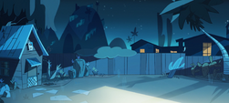 Party With a Pony background - Diaz house backyard night