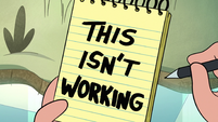S1E14 Marco's notepad 'this isn't working'