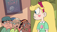 S2E38 Star Butterfly looks at crying students