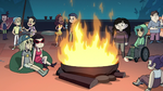 S2E41 Bad ECA kids around a roof bonfire