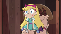 S4E34 Star Butterfly sitting on a pig goat