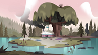 S4E8 Wide view of Moon and River's camp
