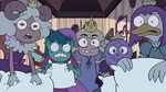 S3E33 Princesses looking shocked at Rasticore