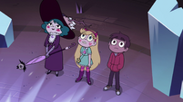 S4E1 Star, Marco, and Eclipsa in crystal chamber