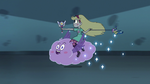 S3E11 Star rides Cloudy toward Eclipsa's cell