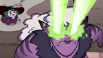 S3E36 Meteora attacking Queen Moon again