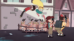 S1E9 Star drags Marco into a pig-goat pen