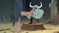 S2E12 Dogbull lifting weights with tree piece