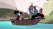 S4E23 Globgor helping Eclipsa out of the boat