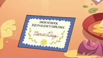 S4E26 Marco's high school equivalency diploma
