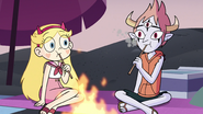 S3E19 Star and Tom eating their marshmallows