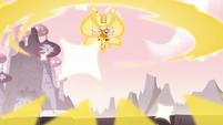 S3E7 Mewberty Star releasing magic around her