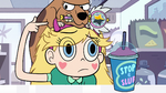S2E6 Star pointing to the dog on her head