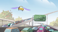 S4E27 Taxi cab flying through the air