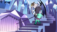 S2E34 Rhombulus carries Lekmet to bottom of the stairs