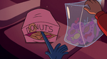 S2E14 Glossaryck reaching for Marco's snacks