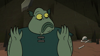 S2E20 Buff Frog watches Ludo go flying off-screen