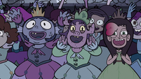 S3E16 Princesses cheering loudly for Turdina
