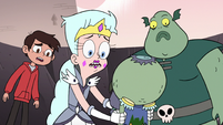 S3E7 Moon, Marco, and Buff Frog surprised by Ludo's voice