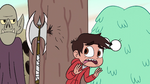 S2E13 Marco Diaz nearly struck by an axe