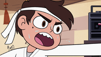 S2E37 Marco Diaz sweating as he performs