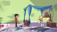 S3E22 Star Butterfly sitting down on her bed