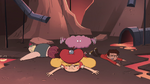 S4E2 Star, Marco, and River fall in the volcano